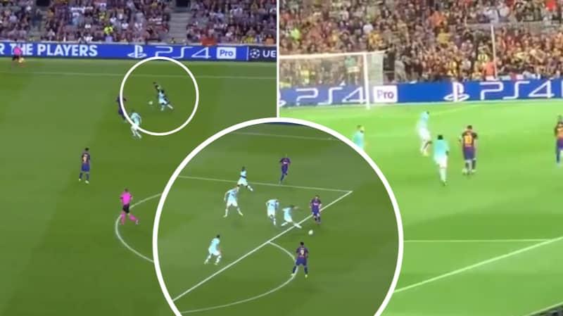 Lionel Messi Produces Outrageous Assist For Luis Suarez Against Inter Milan