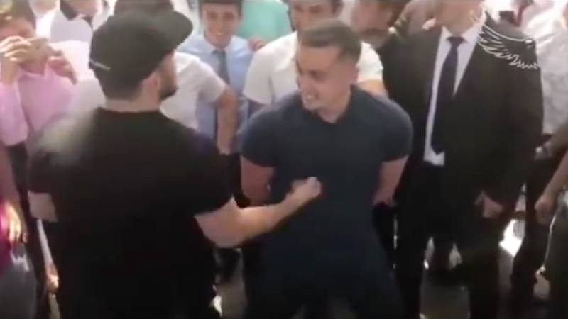 Fan Asks Khabib Nurmagomedov To Punch Him - He Accepts And Drops Him