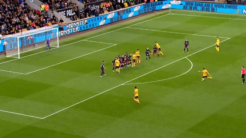 Wolves' Ruben Neves Scores Stunning Free-Kick Against Arsenal