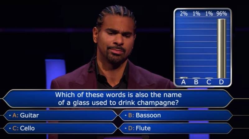 David Haye's Appearance On 'Who Wants To Be A Millionaire' Will Go Down In TV History