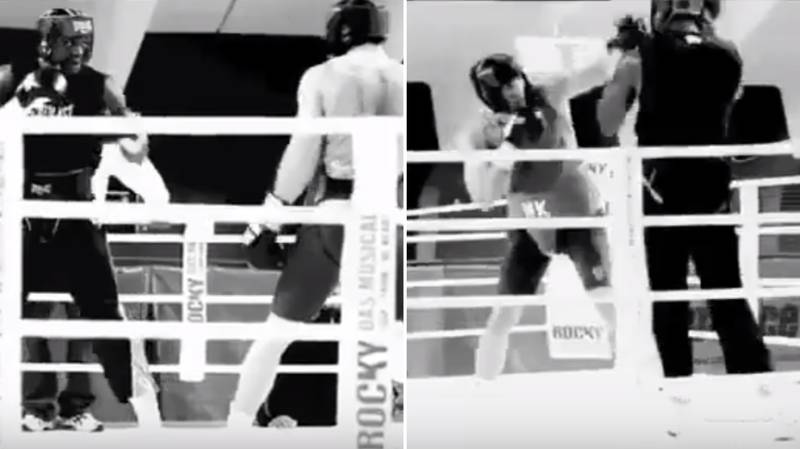 Never-Before-Seen Clip Of Deontay Wilder And Wladimir Klitschko Sparring Emerges Online