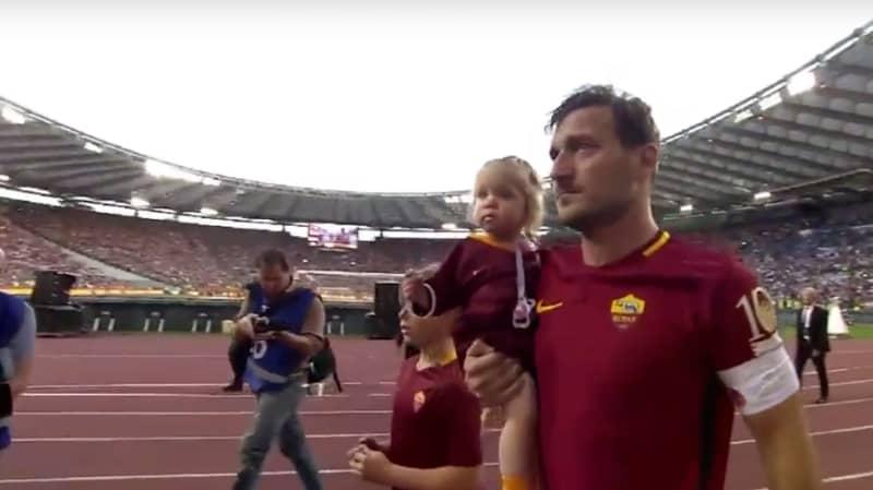 Throwback: Francesco Totti's Tearful Farewell To Roma