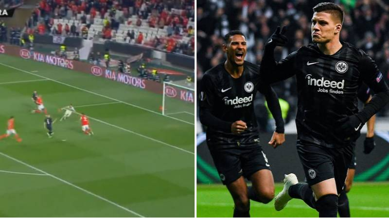 Frankfurt's Luka Jovic Scores Against Parent Club Benfica In Europa League Quarter Final
