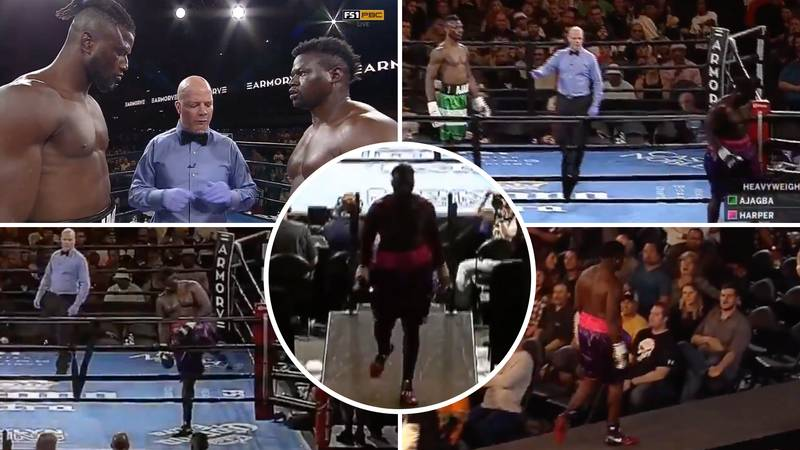 The Incredible Moment When A Boxer Left The Ring Straight After The Bell Rang