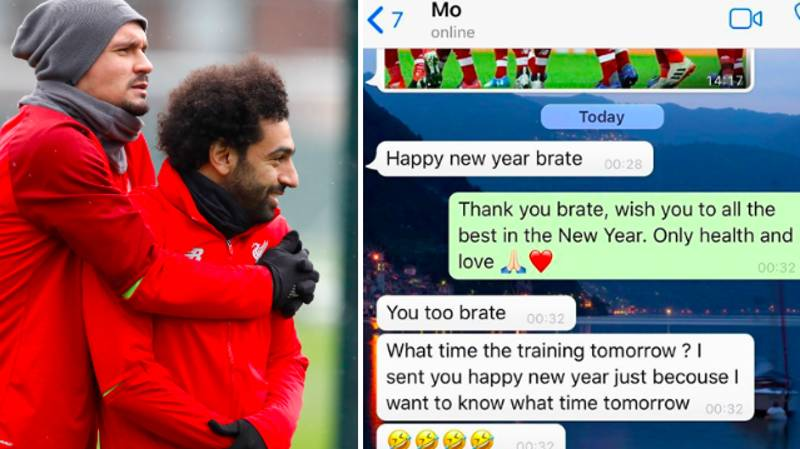 Dejan Lovren Reveals Hilarious WhatsApp Messages He Received From Mo Salah