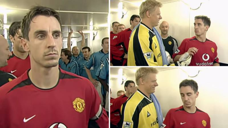 When Gary Neville Refused Handshake With Peter Schmeichel In The Tunnel Before Manchester Derby