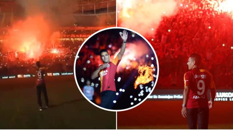 40,000 Galatasaray Fans Turn Up For Radamel Falcao's Unveiling At Turk Telekom Stadium