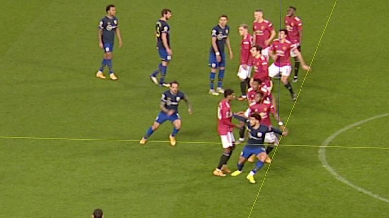 VAR Rules Out Che Adams' Goal Against Manchester United After His Finger Was Offside