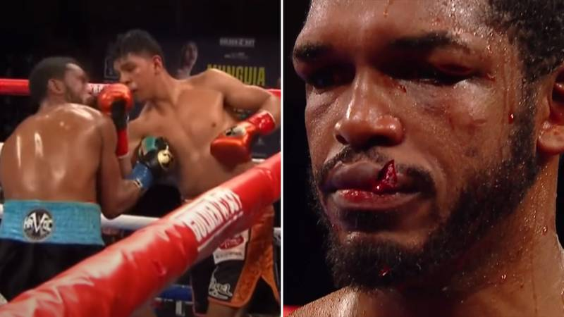 Jaime Munguia Busts Tureano Johnson's Lip In One Of Boxing's Most Gruesome Injuries