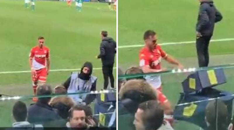 Monaco Player Filmed Kicking The VAR Monitor After Receiving Red Card