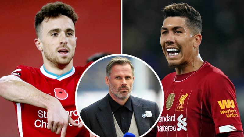 Liverpool Legend Jamie Carragher Gives Honest Verdict On Roberto Firmino Vs Diogo Jota Debate