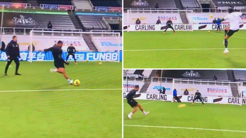 Footage Of Newcastle's Shooting Drill Before Leeds Game Is Going Viral For All The Wrong Reasons