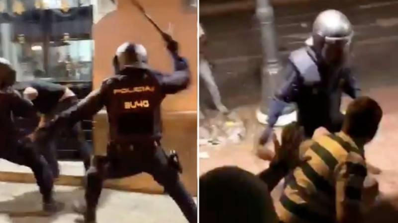 Spanish Police Attack Celtic Fans With Batons In Shocking Scenes
