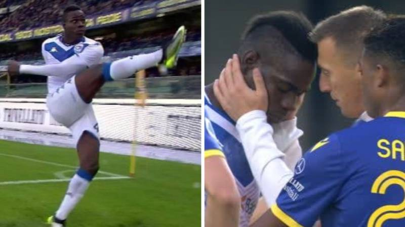 Mario Balotelli Kicks Ball Into Crowd And Walks Off Pitch After Racist Abuse From Hellas Verona Fans