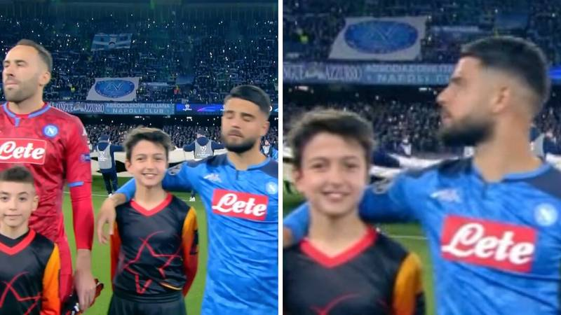 Lorenzo Insigne Hilariously Given Tallest Mascot For Napoli's Champions League Game Against Barcelona
