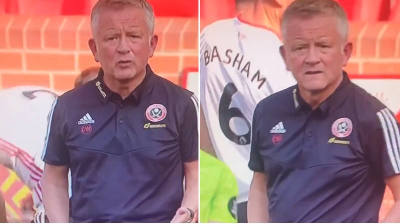 You May Have Missed Chris Wilder Absolutely Laying Into Simon Moore During The Drinks Break