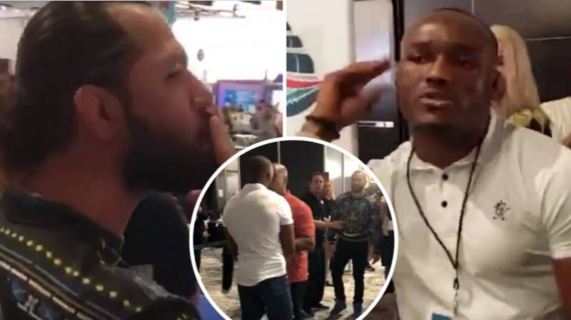 Jorge Masvidal And Kamaru Usman Forced Apart As The Pair Get Into Angry Confrontation