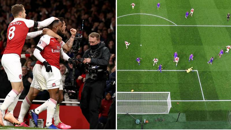 Alexandre Lacazette Looked Like He Celebrated His Goal Against Liverpool Before It Went In