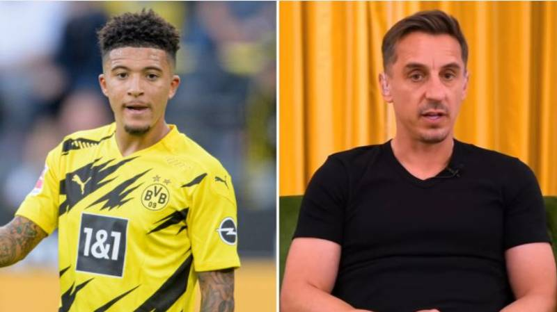 Gary Neville Says Manchester United's Pursuit Of Jadon Sancho Is 'Embarrassing'