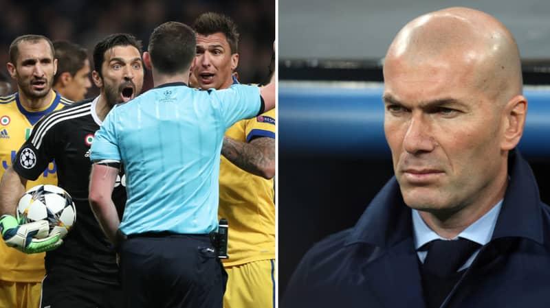 Zinedine Zidane Bemoans 'Embarrassing' Reaction To Gianluigi Buffon Red Card