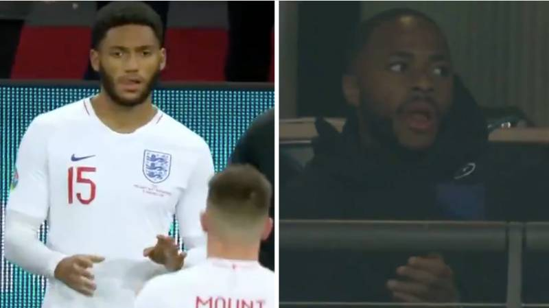 Raheem Sterling Claps Substitute Joe Gomez As Fans Boo Him Onto The Pitch