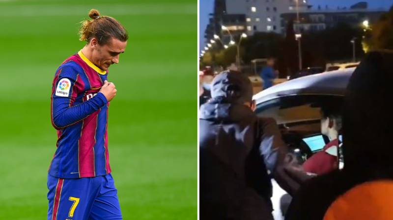 Lionel Messi Fans Surround Antoine Griezmann's Car Demanding Respect