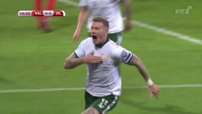 WATCH: Ireland Go Crazy After James McClean Scores Against Wales