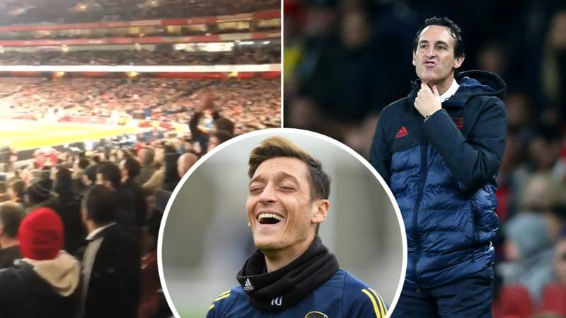 Arsenal Fans Loudly Sing About Mesut Ozil During 2-2 Draw With Crystal Palace