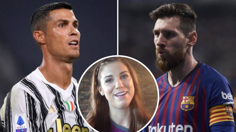 Alex Morgan Asked To Choose Between Cristiano Ronaldo And Lionel Messi