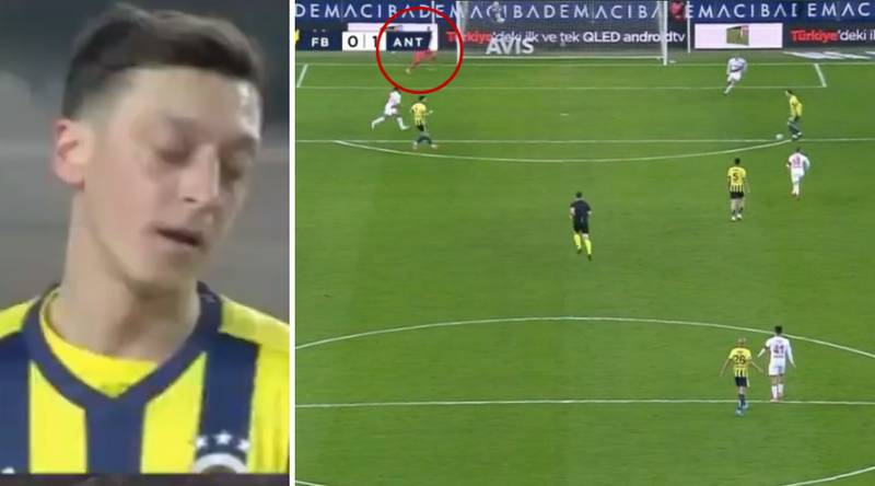 Mesut Ozil Is Nutmegged And Misses A Sitter In Nightmare 60 Seconds For Fenerbahce