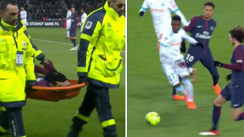 Marseille Player Blames Neymar For Horrible Injury Suffered On Sunday