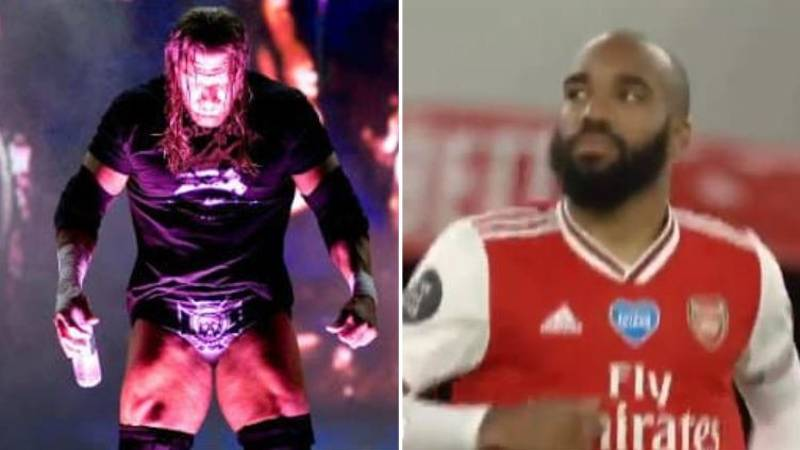 Arsenal Players Came Out To Triple H's Music For The Second Half