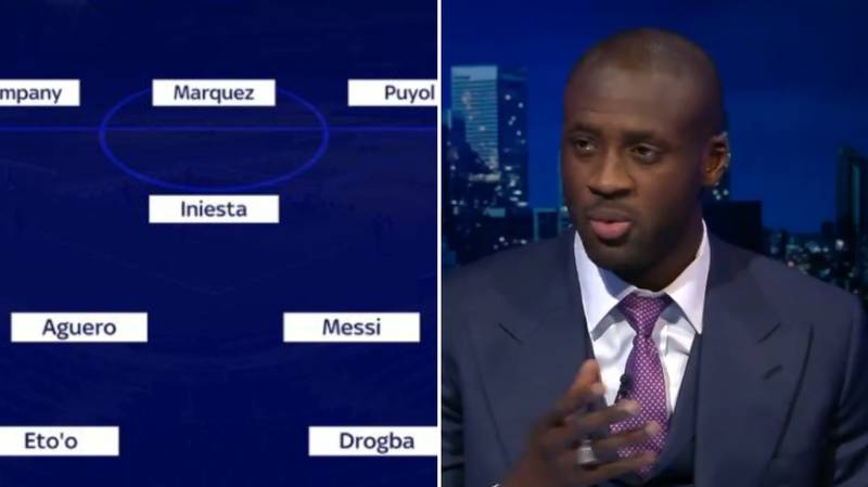 Yaya Toure's Ultimate Team Is A 3-1-6 Formation And Has Five Strikers