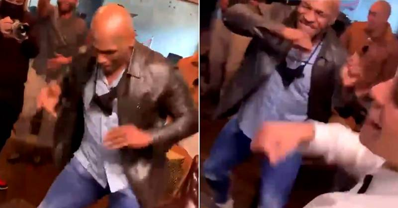 Mike Tyson Starts Dancing In Excitement During Ryan Garcia And Gervonta Davis Phone Call