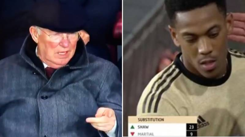 Sir Alex Ferguson Looked Baffled At Anthony Martial's Substitution Last Night