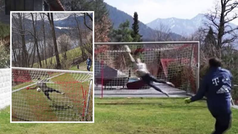 Manuel Neuer's Insane Training Sessions Outside His House At Lake Tegernsee Are Next Level