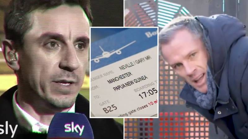 Gary Neville 'Flees The Country' After Liverpool Title Nightmare Comes True In Hilarious Video