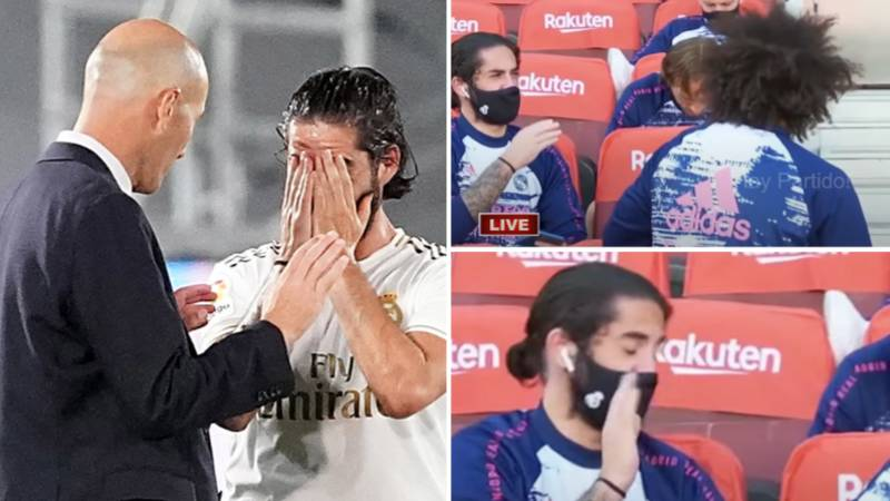 Isco Complaining About Real Madrid Manager Zinedine Zidane Caught On Camera