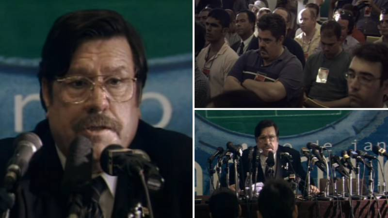 """Mike Bassett's """"Four-Four-F*****g-Two"""" Press Conference Is 20 Years Old This Year"""