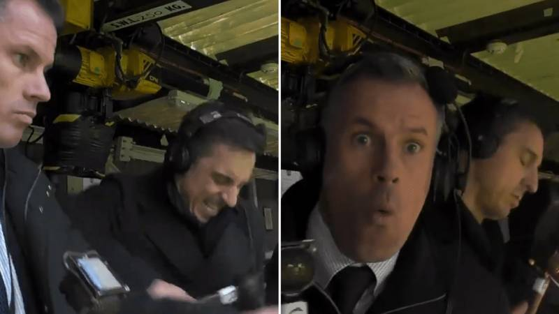Gary Neville And Jamie Carragher's Reactions To Manchester United And Liverpool Goals Were Brilliant