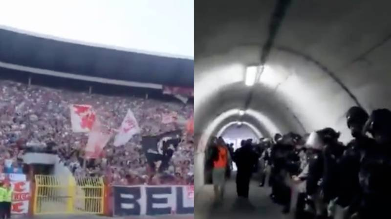 The Eerie Tunnel Walk Awaiting Liverpool Players At Red Star Belgrade