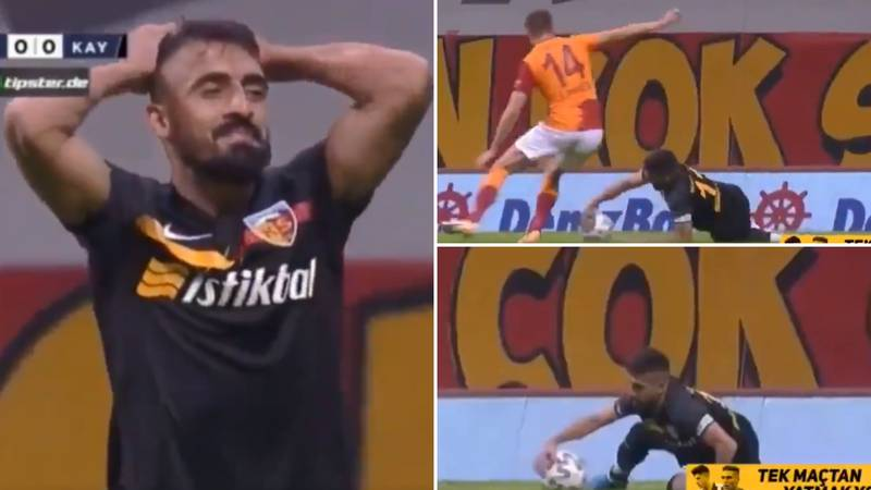 Mugdat Celik Gives Away Penalty And Gets Sent Off Vs Old Club Galatasaray