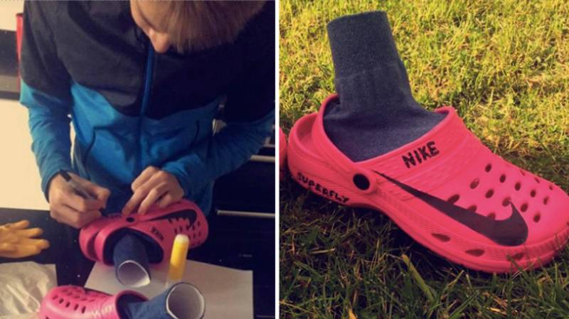 Sunday League Player Has Created A Pair Of 'Crocfly' Football Boots Using Crocs
