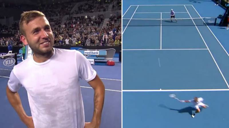 Dan Evans Hits Most Ridiculous Winner Ever In Australian Open Qualifier