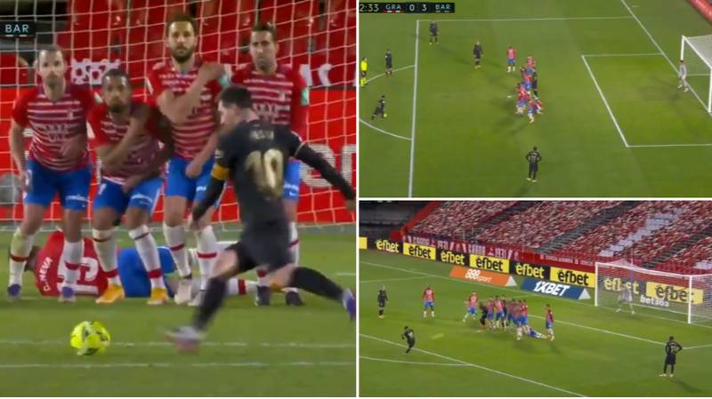 Lionel Messi Scores Two Stunning Goals For Barcelona Against Granada