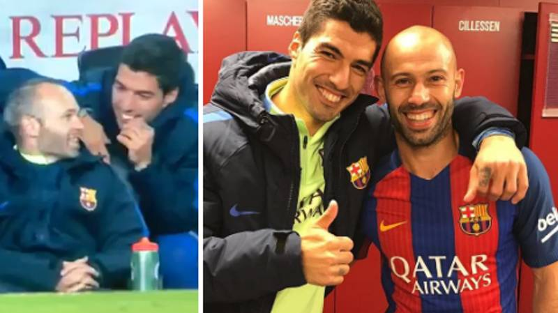 WATCH: Suarez's Brilliant Reaction To Mascherano Scoring His First Barca Goal