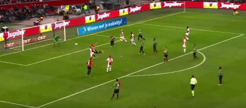 WATCH: Kasper Dolberg Score Unreal Backwards Header