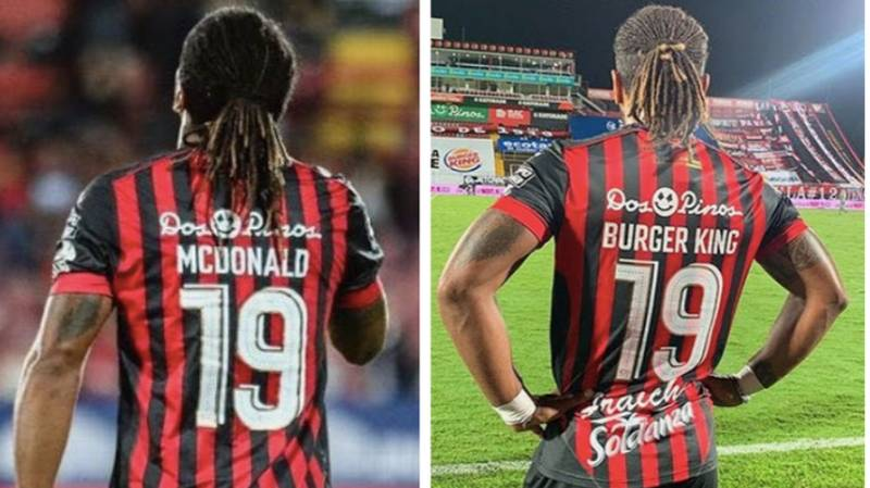 A Player Called McDonald Has Changed His Shirt Name To Burger King