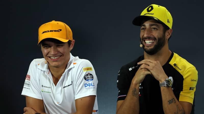 Lando Norris Crashed Daniel Ricciardo's Interview To Banter Him About Their On-Track Rivalry