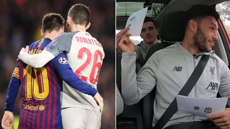 Alex Oxlade-Chamberlain Must Honour Lionel Messi Shirt Bet With Andy Robertson